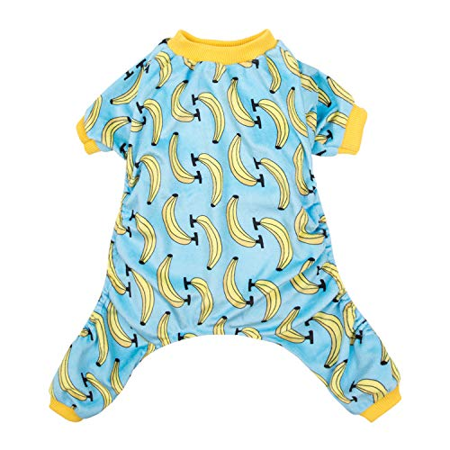 CuteBone Dog Pajamas Banana Dog Apparel Dog Jumpsuit Pet Clothes Pajamas -