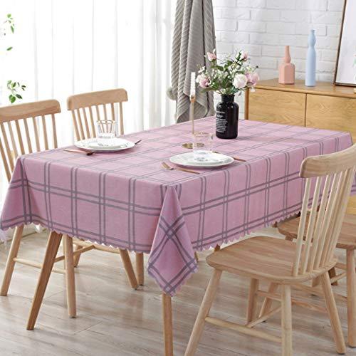rose 135250CM FANXU Nappe Imperméable Et Oléofuge De PVC, Nappe Imprimée Rectangulaire, Utilisée for La Décoration De Table De Cuisine (Couleur   rose, Taille   135  250CM)