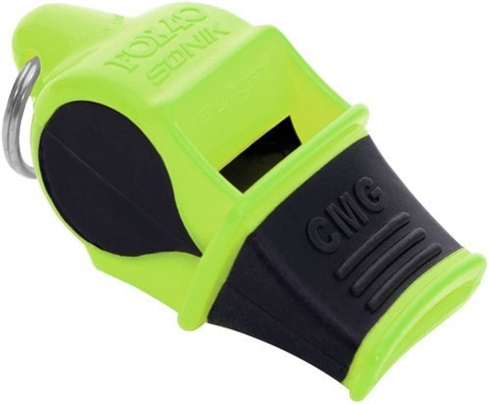 FOX 40 Sonik Blast CMG Whistle Multicoloured Neon-Yellow / Black with Breakaway Cord