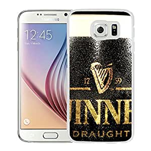guinness draught beer dark glass drop drink 20414 WhiteHigh Quality Custom Samsung Galaxy S6 Protective Phone Case