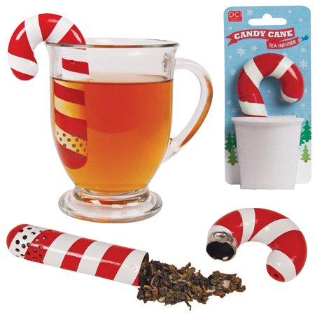 DCI Candy Cane Tea Infuser - Candy Cane Ball