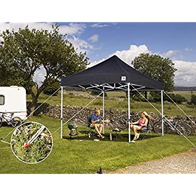 ABCCANOPY 10x10 Pop up Canopy Tent Commercial Instant Shelter with Heavy Duty Weights Set, Bonus Wheeled Carry Bag, 4 Sandbags, 4 Stakes & Ropes, Black : Garden & Outdoor