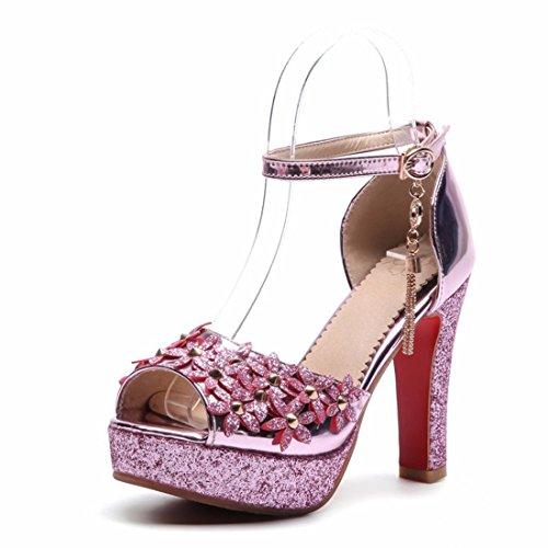 de Sandalias de de de de Pescado Mujer Diamantes Zapatos Sandalias Sandalias Red Boca Mujer Altos Tacones 0pvOdq