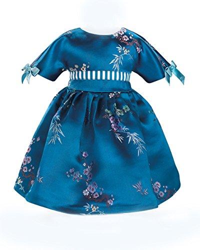 CARPATINA Blue Blossoms Dress fits 18 American Girl Dolls SB0070