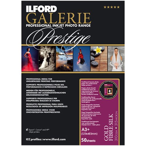 ILFORD 2001720 GALERIE Prestige Gold Fibre Silk - 13 x 19 Inches, 50 Sheets by Ilford