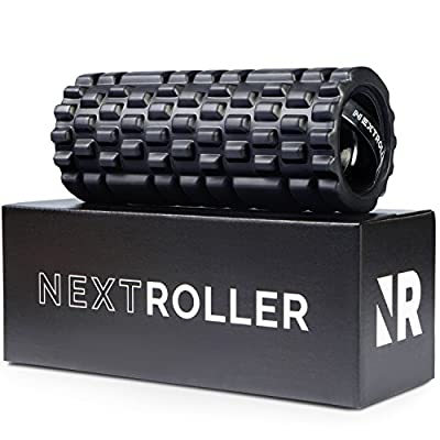 NextRoller 3-Speed Vibrating Foam Roller - High Intensity Vibration for Recovery, Mobility, Pliability Training & Deep Tissue Trigger Point Sports Massage Therapy - Firm Density Electric Back Massager from NextRoller