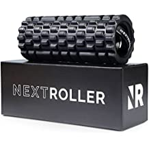 NextRoller 3-Speed Vibrating Foam Roller - High Intensity Vibration for Recovery, Mobility, Pliability Training & Deep Tissue Trigger Point Sports Massage Therapy - Firm Density Electric Back Massager