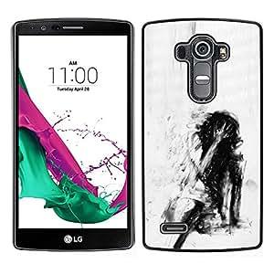 For LG G4 , S-type® Depression Deep Emo Black - Arte & diseño plástico duro Fundas Cover Cubre Hard Case Cover