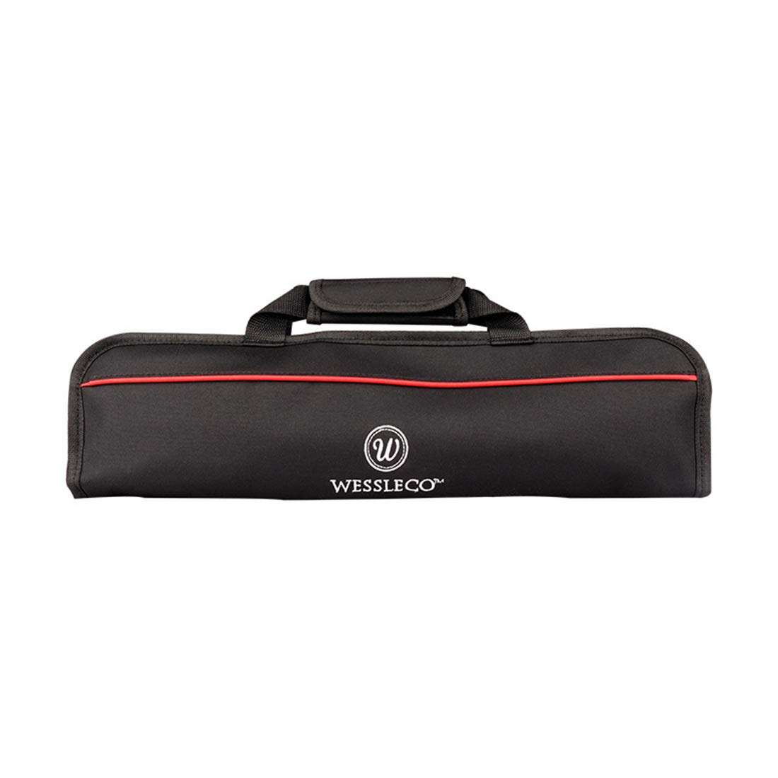 Surrui Knife Roll Bag Storage Bag 5 Pockets Knife Carrier Storage Tote for Culinary Student Professional Chef Enthusiasts Men Women Red