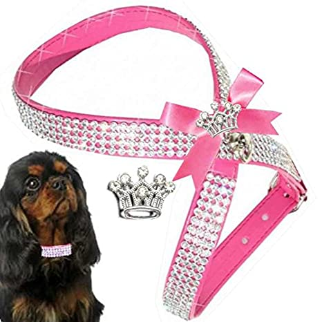 XS rosa Chihuahua perro brillantes Vajilla arnés del perro ...