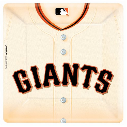 San Francisco Giants Baseball - Square Banquet Dinner Plates Party Accessory]()