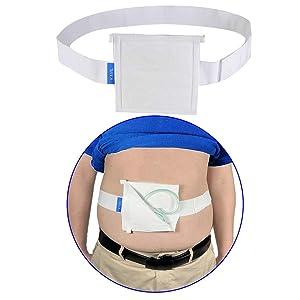 G Tube Holder Belt Feeding Tubes Accessories G Tube Covers Peg Tube Gastrostomy Catheter Pd Dialysis Belt Pads Drainage Medical Abdominal Dialysis For Men Women(28