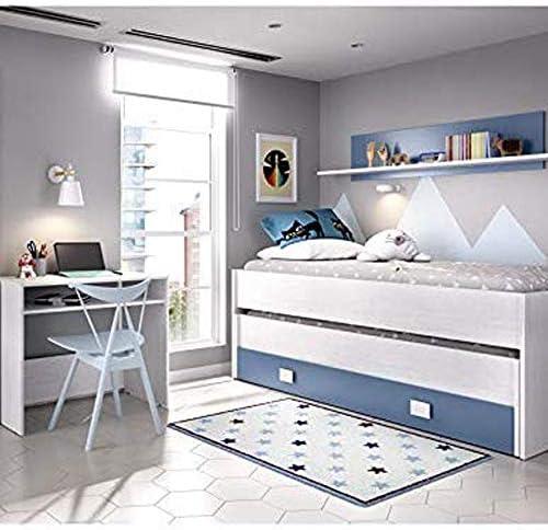 HABITMOBEL Dormitorio Infantil Completo Cama Nido 2 cajones + ...