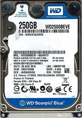 DBOT2HNB Western Digital WD2500BEVE-00A0HT0 250GB DCM
