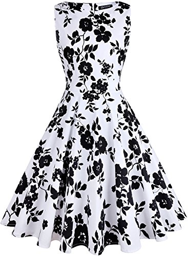 - OWIN Women's Vintage 1950's Floral Spring Garden Picnic Dress Party Cocktail Dress