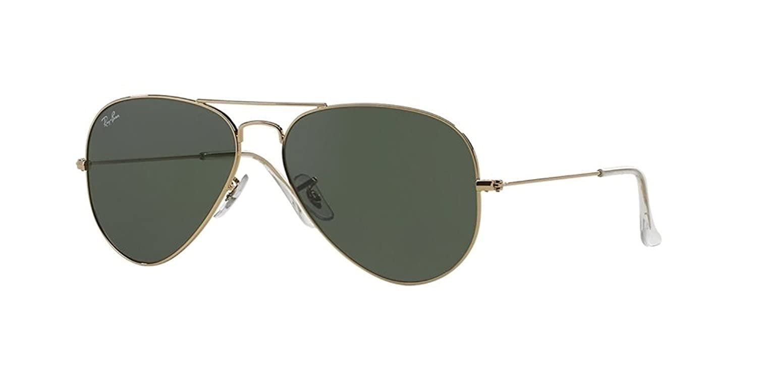 aabc7a28b3 Amazon.com  Ray-Ban RB 3025-001 Arista Large Metal Aviator with G-15XLT  Lenses- 62mm  Shoes