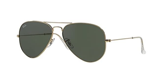 22d2290a7a Amazon.com  Ray-Ban RB 3025-001 Arista Large Metal Aviator with G ...
