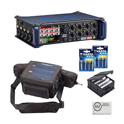 Zoom F8 MultiTrack Field Recorder Bundle with Zoom BCF-8 Battery Case, PCF-8 Protective Case, 8 Batteries, and Austin Bazaar Polishing - Zoom Box