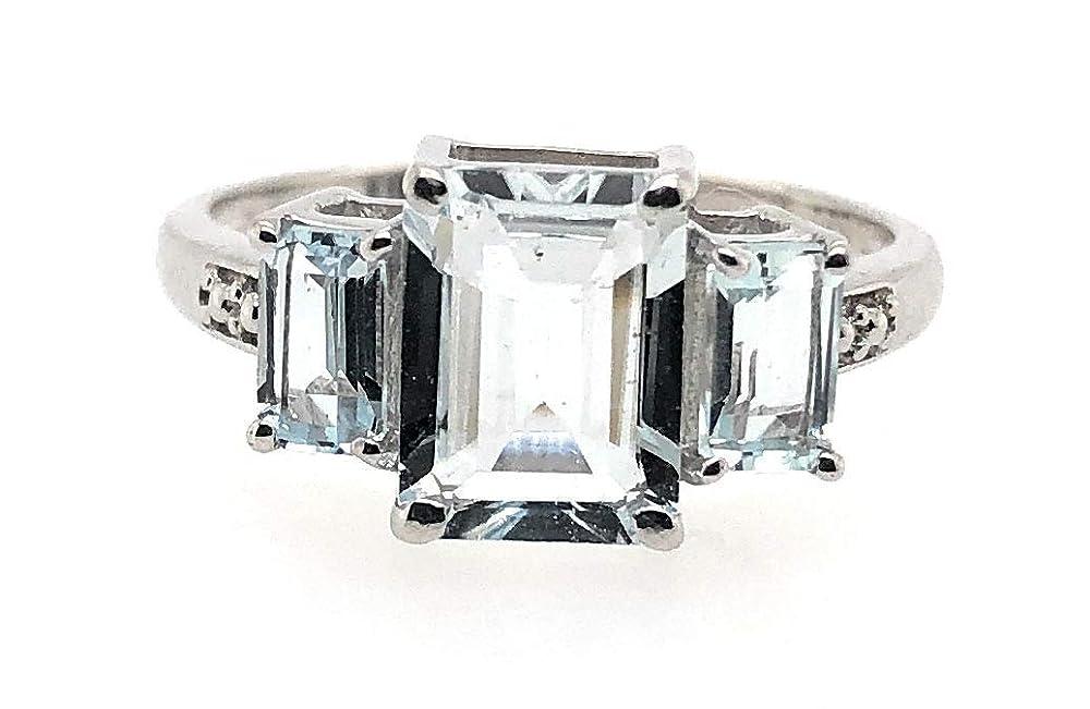 Natural Green Moldavite and Herkimer Diamond Ring Size 7