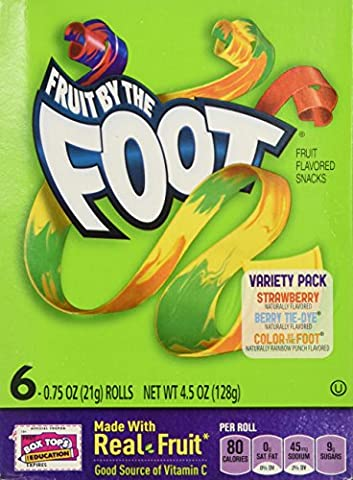 Fruit By the Foot Variety Pack (Strawberry, Berry Tie Dye, Color By the Foot, 6-count Rolls (Pack of 2)