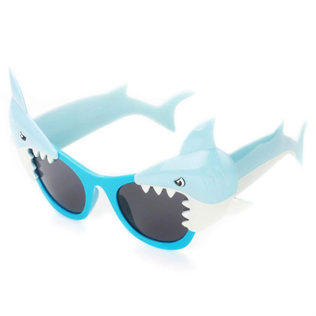 IPOTCH Kids Novelty Shark Shaped Sunglasses Fancy Dress Eyewear Festival Party Props