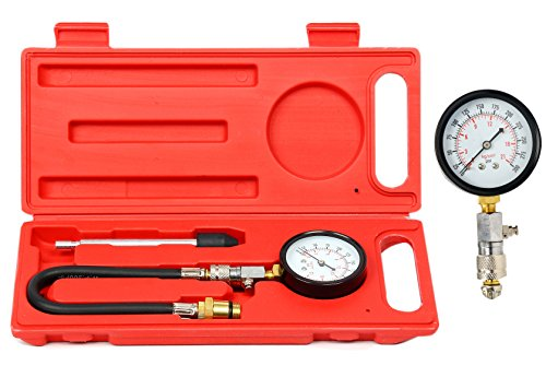 8milelake Engine Cylinder Compression Tester Gauge Tool 0-300 PSI M14 M18 Auto Truck Car Moulded Cylinder