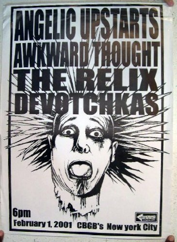 Angelic Upstarts Awkward Thought The Relix Devotchkas CBGB New York City Poster