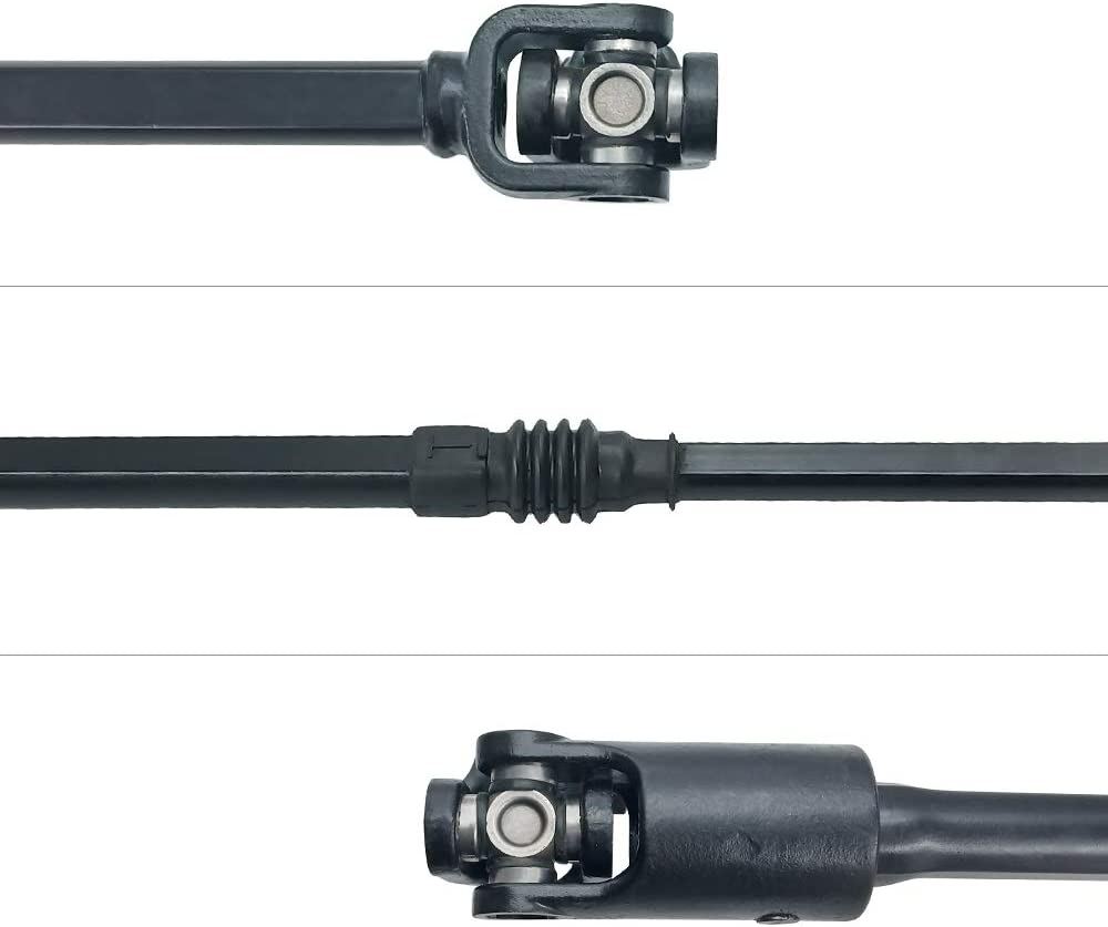 Extends 11.5 for Lifted Jeeps Parffae 52007017 Intermediate Steering Shaft Fits 87-95 Jeep Wrangler YJ w//Power Steering