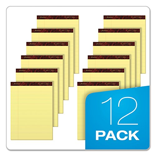 Esselte ESS20022 Ampad Gold Fibre Pads, 8 1/2 x 11 3/4, Canary, 50 Sheets (Pack of 12) by Esselte (Image #5)
