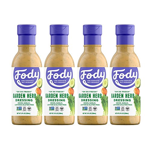 Garden Herbs Salad Dressing - Fody Food Co, Garden Herb Salad Dressings Pack, Low FODMAP and Gut Friendly, Gluten and Lactose Free, Garlic and Onion Free, 4 Count