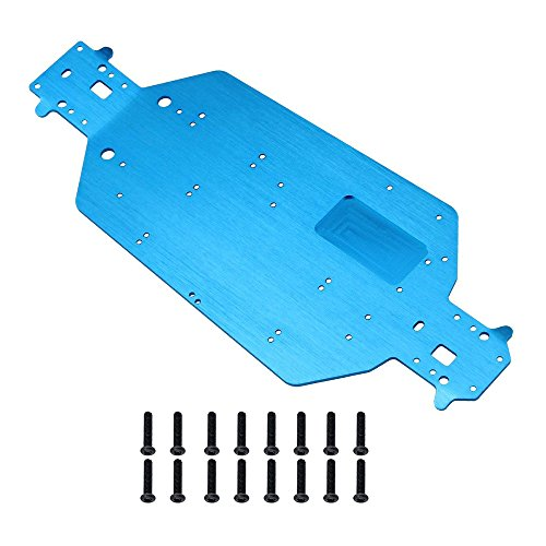 Xpurc Metal Aluminum Chassis Replacement For 1/10 Electric Rc car Redcat Volcano Tornado Vortex Upgrade or replacement part