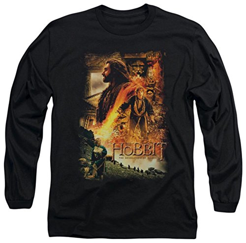 Long Sleeve: The Hobbit: The Desolation of Smaug - Golden Chamber Longsleeve Shirt Size M