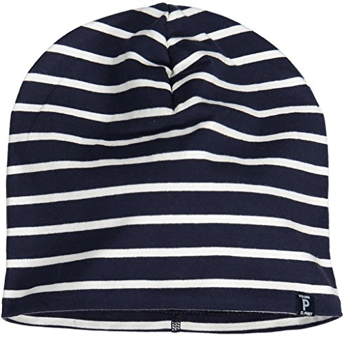 Polarn O. Pyret Fleece Lined ECO Beanie (2-9YRS) - Dark Sapphire/2-9 Years by Polarn O. Pyret