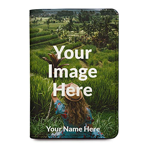 Leather Passport Holder Cover - Upload Your Image - Customized Travel Gift