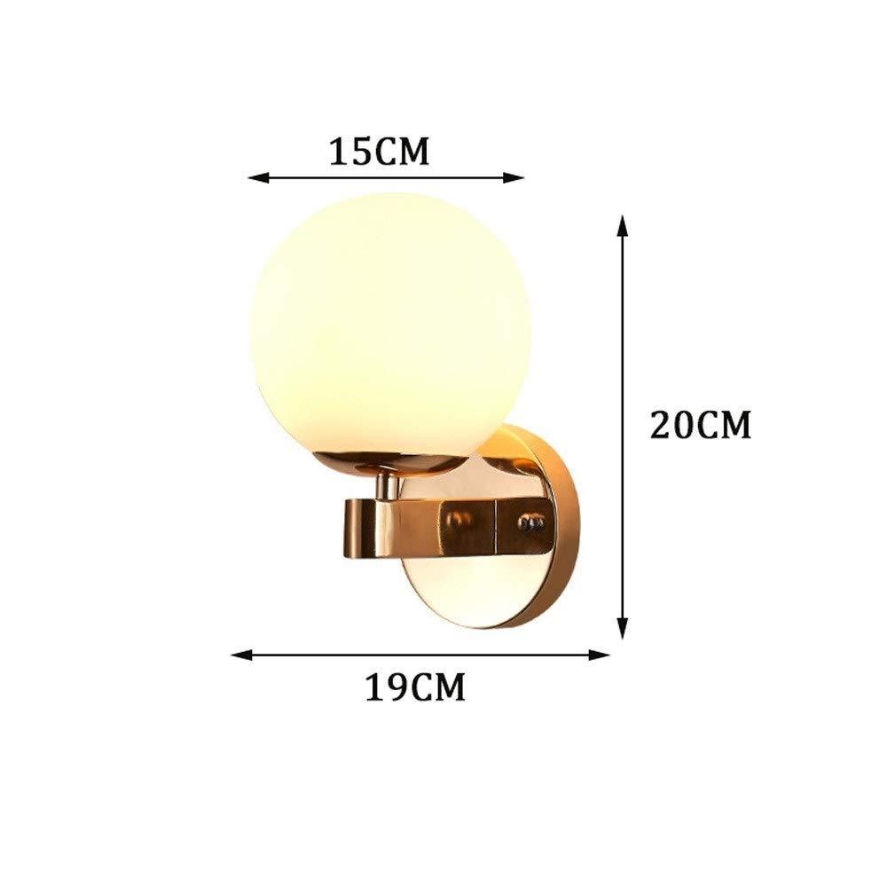 Qyyru Creativo Retro estilo moderno E27 LED l/ámparas de pared Luces de pared de bola de cristal n/órdico for pasillo pasillo L/ámpara de mesita de noche Apliques de pared