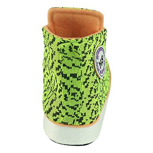 vielfältig für Hausschuhe Turnschuhe Muster mit Männer Bequem Home Grün Pantoffeln Slipper Kuschelig Sneaker qAv0Aw