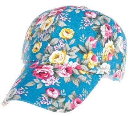 Nadition Baseball Cap Floral Print Baseball Cap Adjustable 100% Cotton Canvas Dad Hat Hats for Women (Green) ()