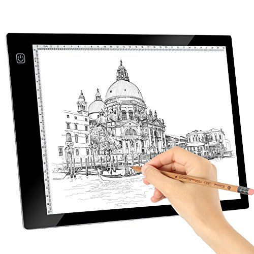 Kohree A4 LED Tracing Light Box Dimmable Tracer Portable Artists Drawing Board USB Power Cable Artcraft Tracing Light Pad for Sketching Animation Designing Stenciling X-Ray Viewing by Kohree