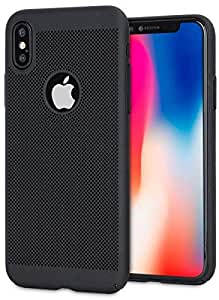 iPhone X Back Case Cover-Black