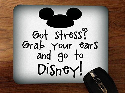 Desktop Office Silicone Mouse Pad by Trendy Accessories (Mouse Ears Quote)