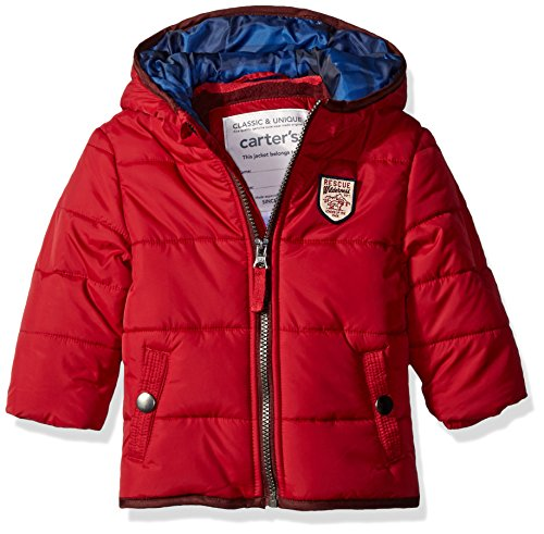 Carter's Boys' Infant Classic Heavyweight Bubble Jacket, Red, 24 Months