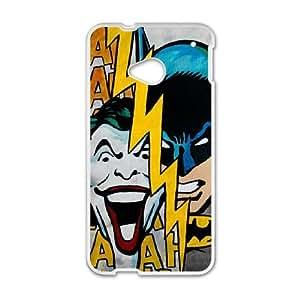 Batman Joker HTC One M7 Cell Phone Case White 218y-797835