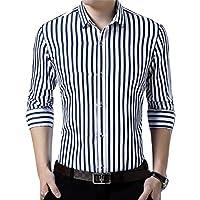 Peppyzone Men's Striped Slim Fit Semi Formal Shirt