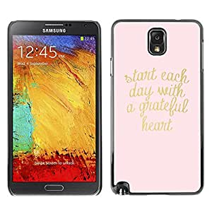 All Phone Most Case / Hard PC Metal piece Shell Slim Cover Protective Case Carcasa Funda Caso de protección para Samsung Note 3 N9000 N9002 N9005 gold pink text heart motivational text