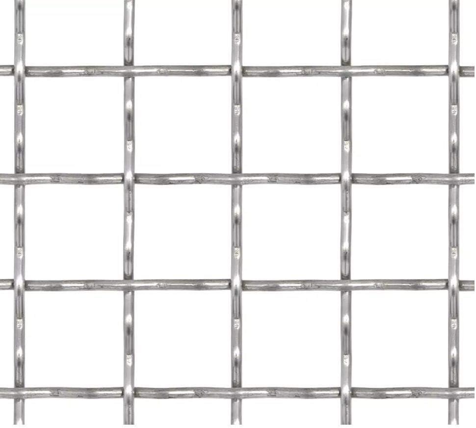 vidaXL Gittermatte Edelstahl 1x0,85m 20x10x2mm Streckmetall Gitter Drahtgitter