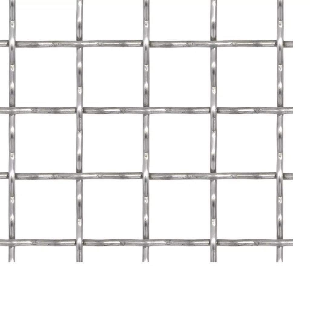 50/×50 cm 11/×11/×2 mm L/änge und H/öhe w/ählbar Drahtgitter Wellengitter Edelstahl Gartenzaun 4 Eck Geflecht Drahtzaun