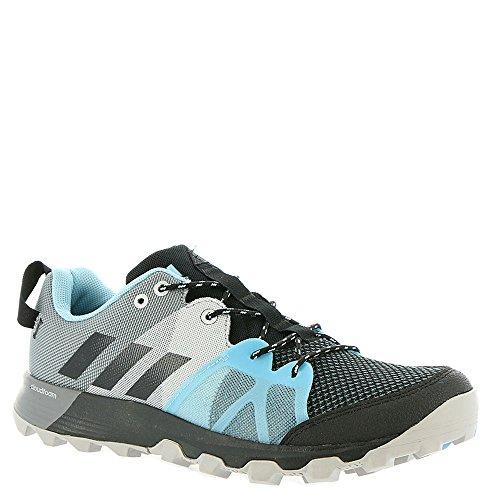 adidas Outdoor Women's Kanadia 8.1 W Trail Running Shoe, Black/Black/Icey Blue, 9 M US