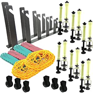DynaSun ESB6 - Pack de accesorios para estudio fotográfico (2 x soporte de pared, 6 contrapesos, 6 x cadenas)