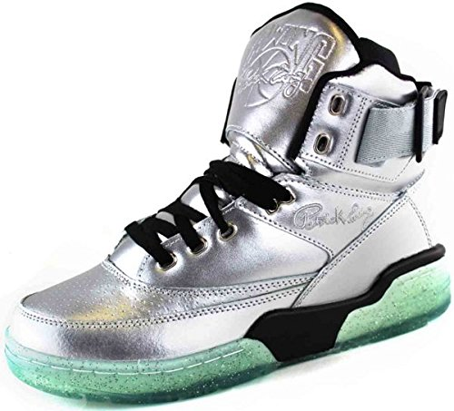 Ewing Athletics Ewing 33 HI Silver Black Ice Basketball Shoe Men Limited Edition - Patrick Ewings 33 High