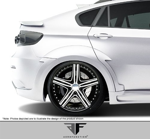 (2008-2014 BMW X6 X6M E71 AF-5 Wide Body Rear Fender Flares ( GFK ) - 6 Piece)